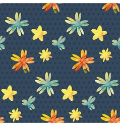 Background with watercolor flowers vector