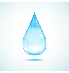 Big drop vector image