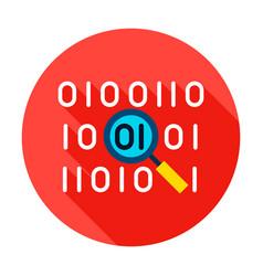 Binary data search circle icon vector