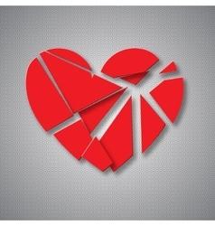 Breaking heart vector image
