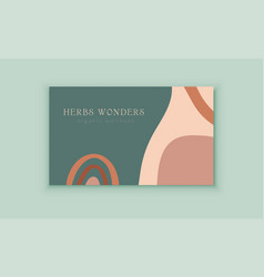 Business card template with modern abstract shapes vector