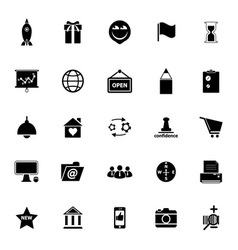 Business start up icons on white background vector