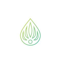 cannabis drop human logo icon vector image