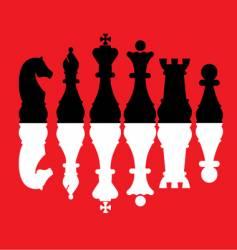 Chess pieces set vector