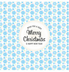 christmas design with background pattern vector image