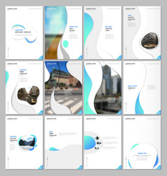 creative brochure templates with fluid colorful vector image