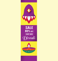 diwali is festival of lights of hindu for vector image