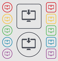 Download Load Backup icon sign symbol on the Round vector
