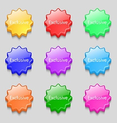 Exclusive sign icon Special offer symbol Symbols vector