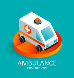 fast ambulance icon isometric of vector image