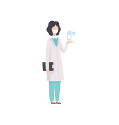 female doctor or scientist character wearing vector image