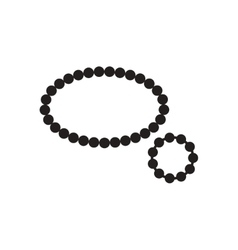 Flat icon in black and white beads bracelet vector