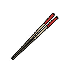 Food chopsticks isolated vector