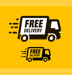 Free delivery symbol truck freight vector