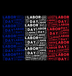 french flag collage of labor day texts vector image