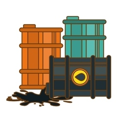 gasoline or oil industry related icons image vector image