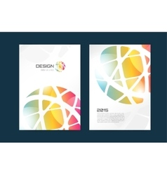 globe brochure template Abstract arrow vector image