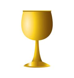 Golden chalice jewish hanukkah celebration icon vector