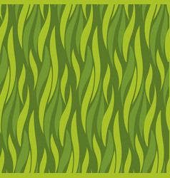 Green wave seamless pattern vector