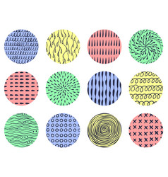 hand drawn doodle abstract patterns set vector image