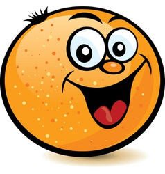happy orange character vector image