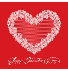 hearts lace 1 380 vector image
