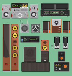 Home music sound acoustic system equipment vector