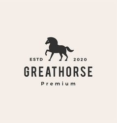 horse hipster vintage logo icon vector image