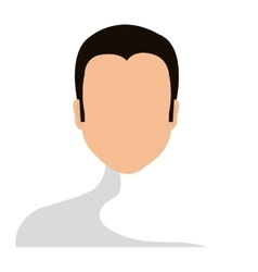 Human male faceless with black hair icon vector