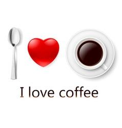 I love coffee 01 vector image