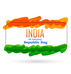 indian 26th january republic day design vector image