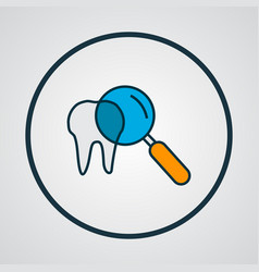 Inspect tooth icon colored line symbol premium vector