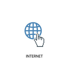 Internet concept 2 colored icon simple blue vector