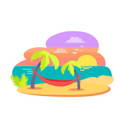 island tropical travelling vector image