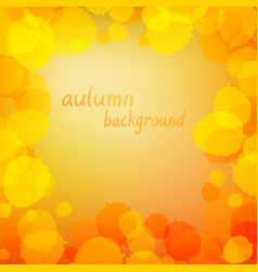 leaves in yellow colors vector image vector image