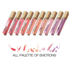Lip gloss white vector image