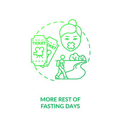 More rest fasting days dark green concept icon vector
