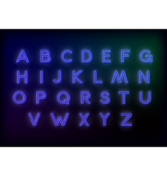 Neon alphabet for your design vector image