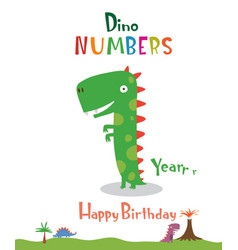 number 1 in the form of a dinosaur vector image