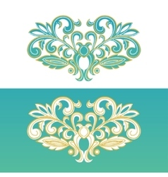 Ornate floral element for design vector image