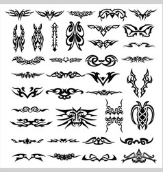 Patterns of tribal tattoo set vector