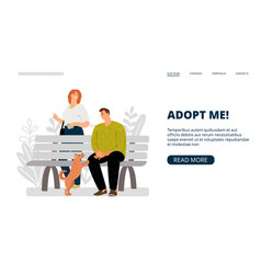 Pets adoption banner vector