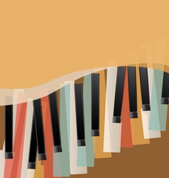 Piano keys retro vector