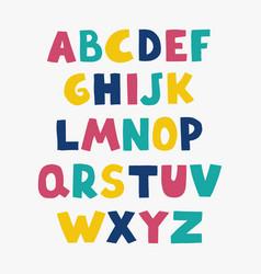 Positive colorful alphabet for children vector