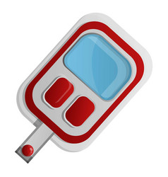 red glucose meter icon cartoon style vector image