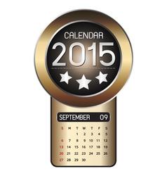 September calendar 2015 Fiber Background vector