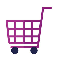 shopping cart ecommerce on white background vector image