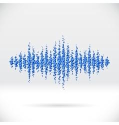 Sound waveform made of scattered balls vector