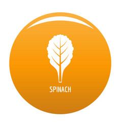 Spinach icon orange vector