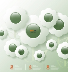 Stylized infographic template with flower bubbles vector